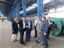 بازدید اعضای هیات مدیره بانک ملی از کارخانه تولیدی کابل سینا