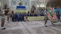مدیران و کارکنان بانک صادرات با آرمانهای امام راحل(ره) تجدید بیعت کردند