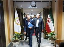 بازدید عضو هیات مدیره از شعبه مرکزی بانک ملی