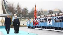 استقبال رسمی رئیس جمهور ترکیه از حسن روحانی