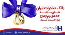 بانک صادرات شش ماهه ١٠۴ هزار وام ازدواج پرداخت کرد