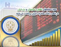 پرداخت سود سهام ۳شرکت در شعب بانک صادرات ایران