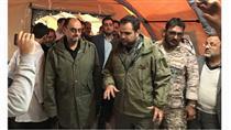 بازدید نماینده ویژه رهبری از بیمارستان صحرایی پاسارگاد در مناطق زلزلهزده