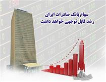 سهام بانک صادرات رشد قابل توجهی خواهد داشت