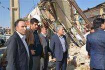 دیدار مدیرعامل بانک ملی با زلزله زدگان