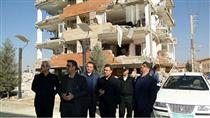بازدید مدیر عامل و مدیران ارشد بانک ملت از مناطق زلزله زده